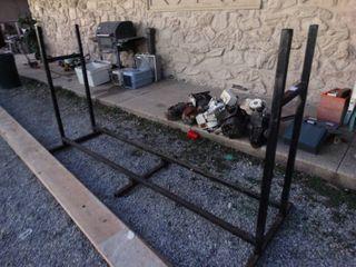 Very nice metal firewood rack