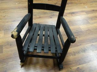 Childs wood rocking chair