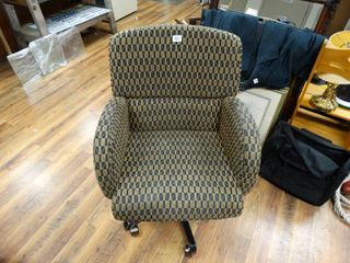 Executive rolling office arm chair