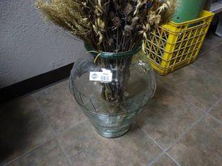 large glass flower vase w  decor