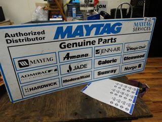 Vintage metal Maytag sign