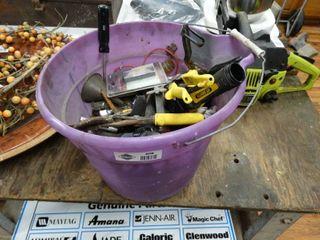 Bucket full of assorted tools