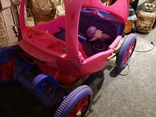 Cinderella carriage power wheels  ride on