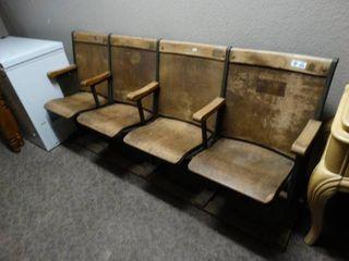 Antique section of auditorium seats  movie theatre seats