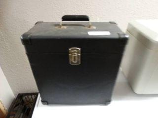 Vintage box w  various record albums