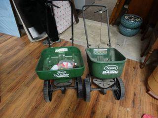 2 lawn spreaders