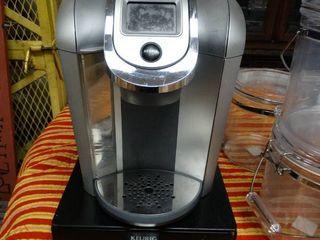 Keurig coffee machine w  pod storage base