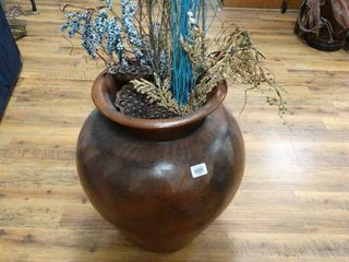 large decorative flower pot w  foliage