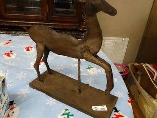 Metal deer candle holder centerpiece