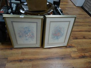 2 pc set framed wall art