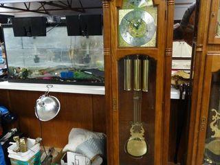 Ridgeway grandfather clock w  winder   key