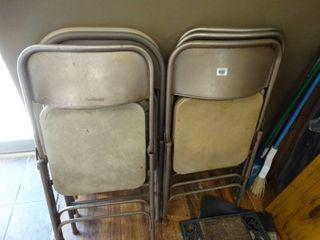 7 folding chairs