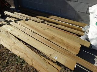 lot of new fence lumber  4 x4 posts   privacy fence boards