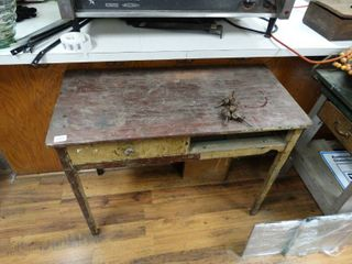 Antique wood desk w  drawer