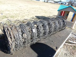 Partial roll of field fence