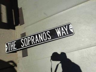 The Sopranos Way metal sign