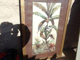 large framed palm tree wall art