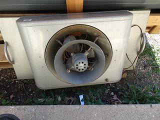 Vintage metal window fan