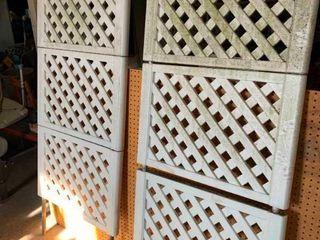 Plastic lattice work