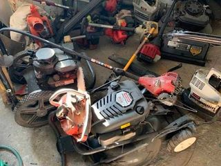 Assortment of lawn care items for parts