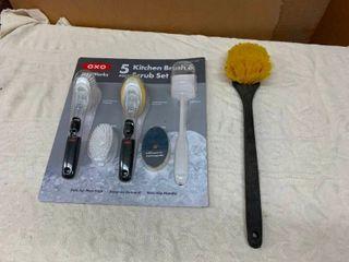 Kitchen scrub brushes