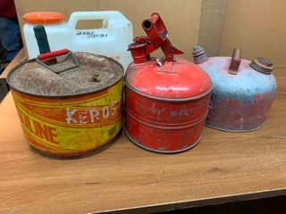 Variety of gas cans