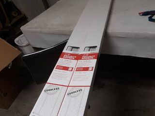 lot of 2  Project Souce Cordless Vinyl Mini Blinds 71 by 64 inch