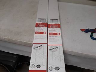 lot of 2 Project Source Cordless Vinyl Mini Blinds 48 by 64 inch