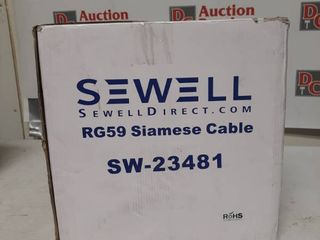 Sewell Direct Sw 23481 Bulk Rg59 Power Siamese Cable 500 Feet Spool 18 Awg Br