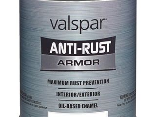 lot of 4  Valspar Anti Rust Armor Rust Control Enamel Gloss Pastel Base