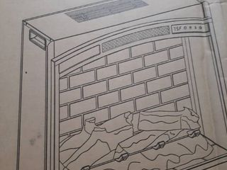 Allen Roth Electric Fireplace Insert