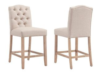 lucian Tufted Upholstered Counter Stool  Set of 2