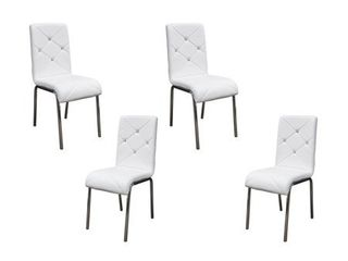 Best Master Furniture Faux leather Side Chairs  Set of 4  Retail 263 99