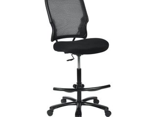 Big Man s Dark AirGrid Back with Black Mesh Seat Double layer Seat Drafting Chair