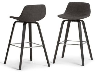 Sotherby Upholstered linen look Deluxe Dining Chair   Natural  Set of 2    Simpli Home  Gray