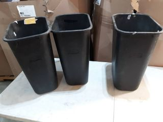 lot of 3 Used Rubbermaid Office Trash Cans