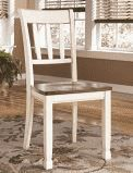 Terra Blana Farm House Dining Chair Set of 2  White and Brown