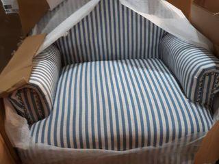 Copper Grove Tarnova Blue Striped Accent Chair