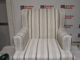 Chair Whiteish with Blue Stripes Missing legs and Hardware