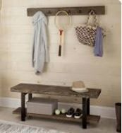 Carbon loft lawrence Coat Hook and Bench Set  Retail 359 49