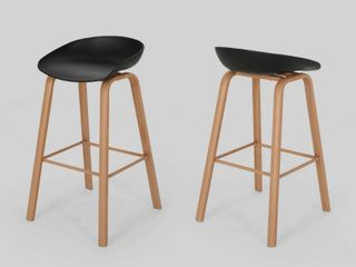 Commodore 30  Modern Barstool  Set of 2  by Christopher Knight Home  Retail 161 49