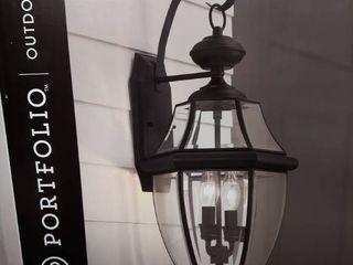 Portfolio Brayden 20 25 in Matte Black Outdoor Wall lantern