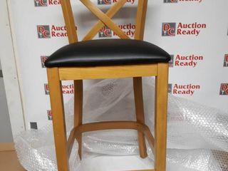 X Back Upholstrred Counter Stool Chair