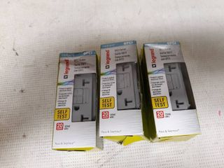lof of 3  legrand Radiant Gray 20 amp Decorator Outlet Gfci Residential commercial