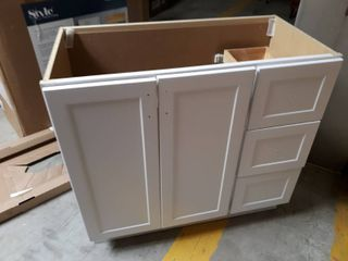 Style Selections  Vanity base and Mirror  No Top
