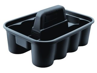 Rubbermaid Commercial Products FG315488BlA Deluxe Carry Cleaning Caddy  Black