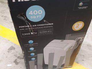 Hisense 7500 Btu 400 sq Ft 115 volt Portable Air Conditioner W remote Ap1219cr1w
