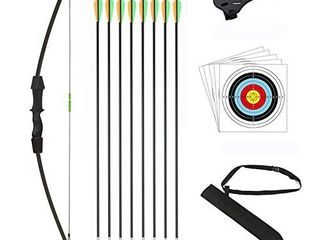 DOSTYlE Outdoor Youth Recurve Bow and Arrow Set Children Junior Archery
