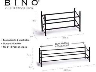 BINO Stackable 2 Tier Expandable Shoe Rack