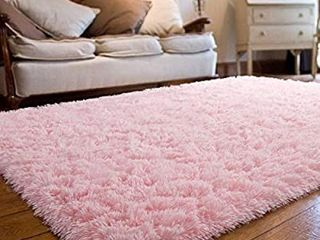 JOYFEEl Soft Bedroom Rugs Girls Pink